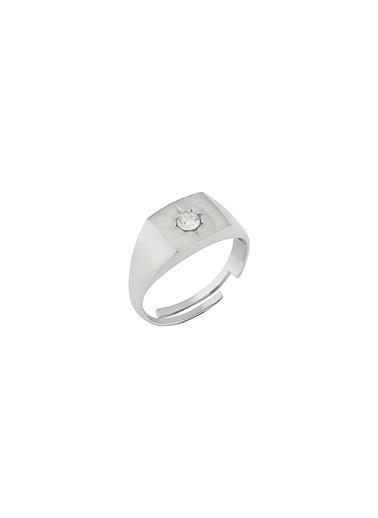 Bendis Design Kare Taşlı Yüzük Gümüş